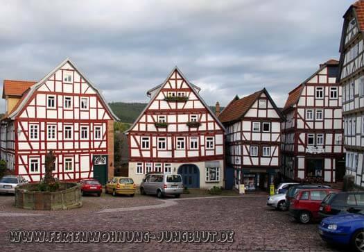 Ferienwohnung-Schlitz am gepflasterten Marktplatz in der Burgenstadt Schlitz