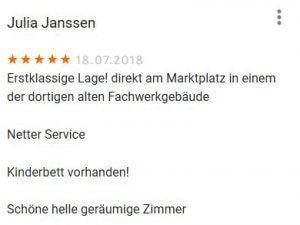 20180718 Bewertung Ferienwohnung in Schlitz
